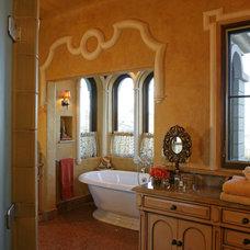 Mediterranean Bathroom by Merlin Contracting & Developing, llc