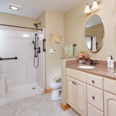 Traditional Bathroom by Tamer Construction, Inc.