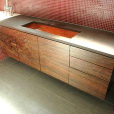 Modern Bathroom by Burns Organic Modern