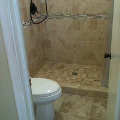 contemporary bathroom Bath Remodel - Oil Rubbed Bronze Look