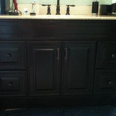 Contemporary Bathroom Bath Remodel - Oil Rubbed Bronze Look