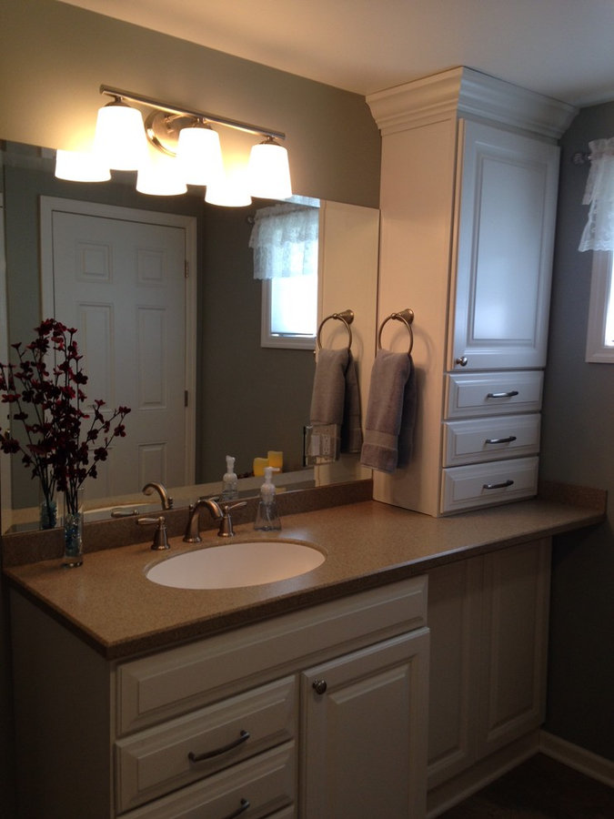 Bath Remodel-Painted Cabinets
