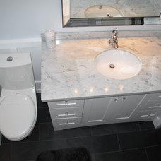 Modern Bathroom by Tesiba Design and Renovations