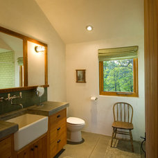 Eclectic Bathroom by Richard Brown Architect AIA