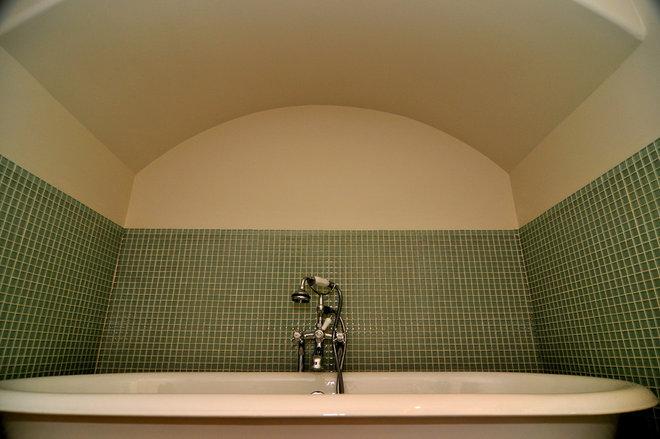 Traditional Bathroom by Valerie McCaskill Dickman