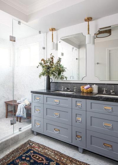 Transitional Bathroom by Ggem Design Co.