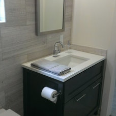 Transitional Bathroom by Custom Surface Solutions
