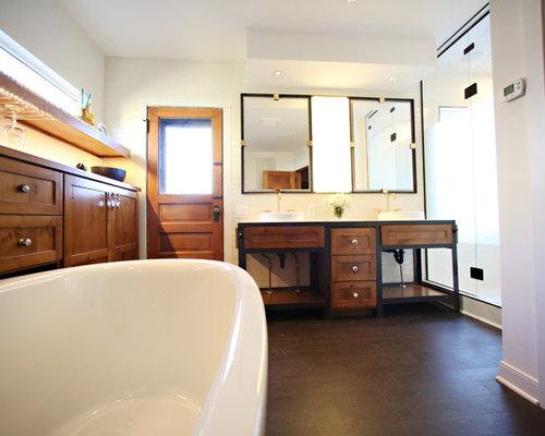 Industrial ensuite bathroom design ideas renovations for Ensuite flooring ideas