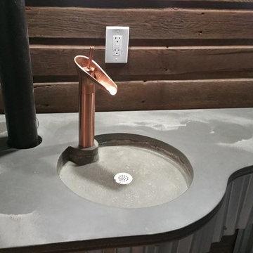 Bathroom Addition- Modern, Straight Edge and Custom Curve Vanity Top