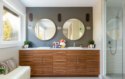 Stealing Space Doubles the Size of This Master Bathroom