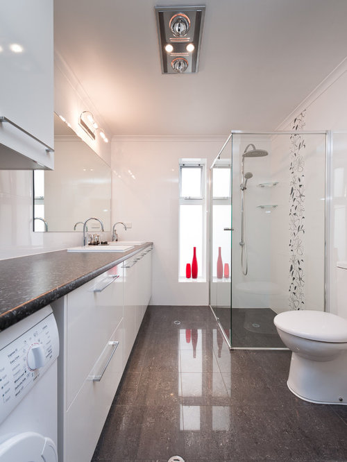 Laundry bathroom combo design ideas remodel pictures houzz for Laundry in bathroom ideas