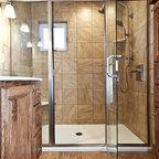 Gray And Brown Bathroom