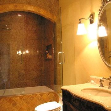 Bathroom-Arched Tiled Valance