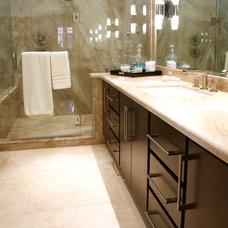 Contemporary Bathroom by Sullivan's Custom Cabinetry