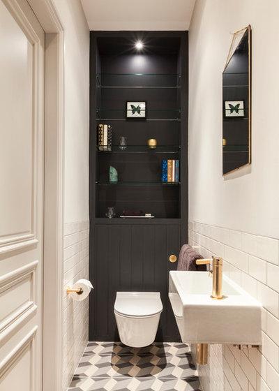 Éclectique Salle de Bain Bathroom bookshelf