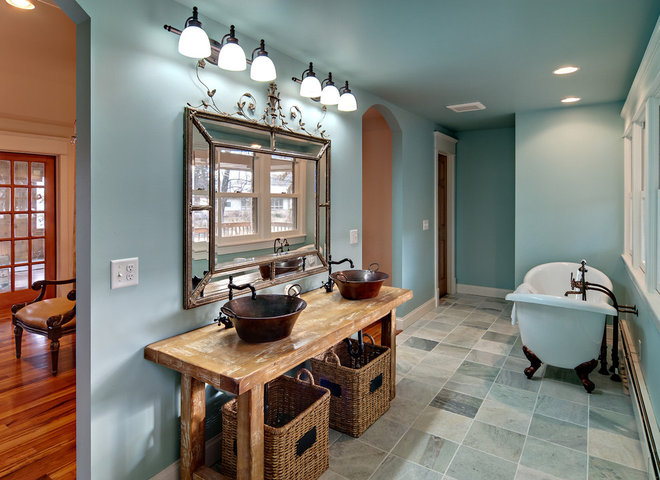 Traditional Bathroom by Brekke Construction Inc.