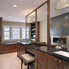 Transitional Bathroom by Bruce Johnson & Associates Interior Design