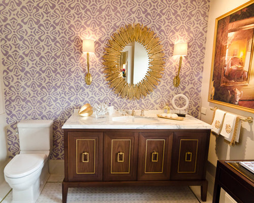Gold bathroom accessories home design ideas pictures remodel and decor Purple and gold bathroom accessories