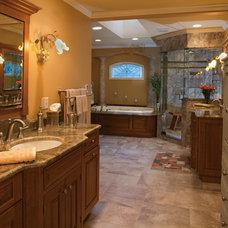 Traditional Bathroom by Plain & Fancy Custom Cabinetry