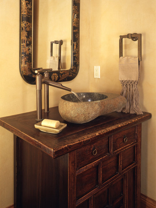 Southwestern Bath Design Ideas Pictures Remodel Decor With Distressed Cabinets