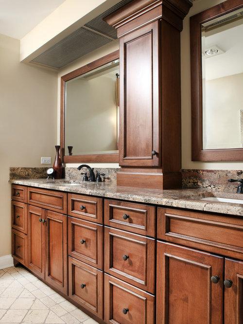 Rustic bathroom design houzz - Bathroom vanity tower cabinets ...