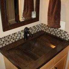 Contemporary Bathroom by Living Stone Concrete Countertops