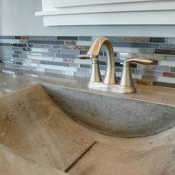 Bathroom concrete sinks - Living Stone Concrete --