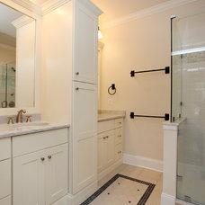 Farmhouse Bathroom by Corbo Associates Inc.