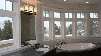 Bathroom curved window trim