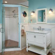 Beach Style Bathroom by CUSTOM CRAFT CONTRACTORS INC