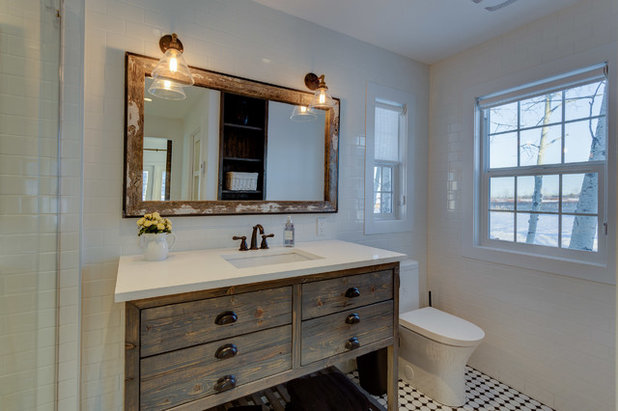 Farmhouse Bathroom by Cat Hackman
