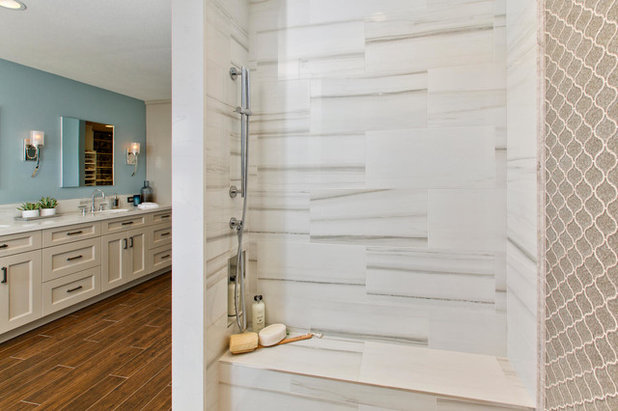 Stunning Transitional Bathroom by THE PLACE for Kitchens u Baths