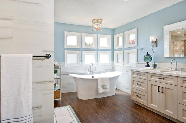 Great Transitional Bathroom by THE PLACE for Kitchens u Baths