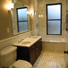 traditional bathroom by LM Designs