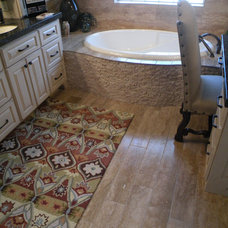 eclectic bathroom by Old World Stone Imports