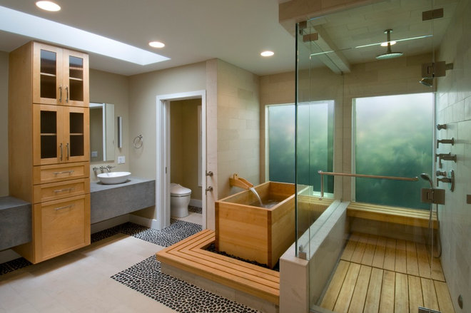 Contemporary Bathroom by DesignBlue, Inc.