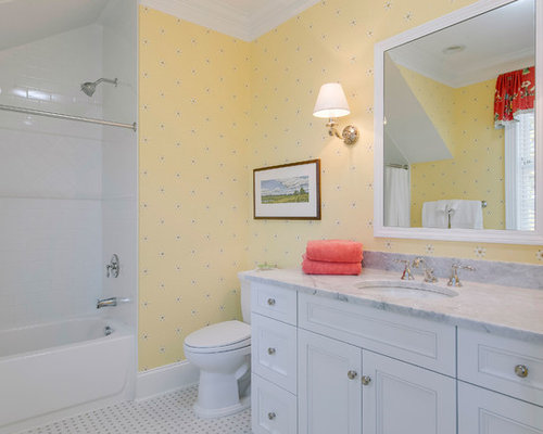 Bathroom Decor With Yellow Walls : Shabby chic style bathroom design ideas renovations