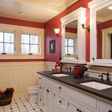 Farmhouse Bathroom by DESIGNS! - Susan Hoffman Interior Designs