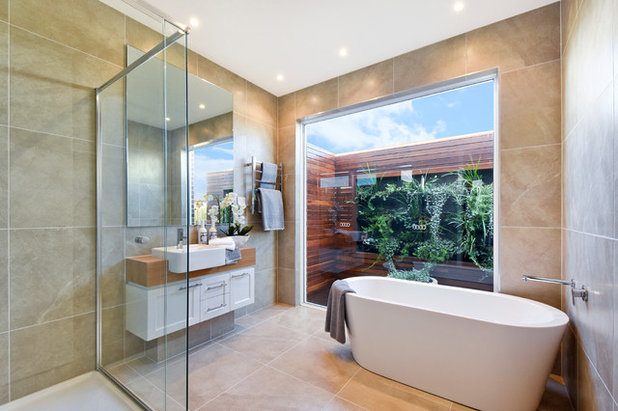 Contemporary Bathroom by Realistic Views Photography Melbourne