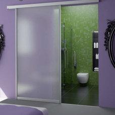 Modern Bathroom by Sliding Door by California Closets