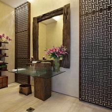 Tropical Bathroom by Eduarda Correa Arquitetura & Interiores