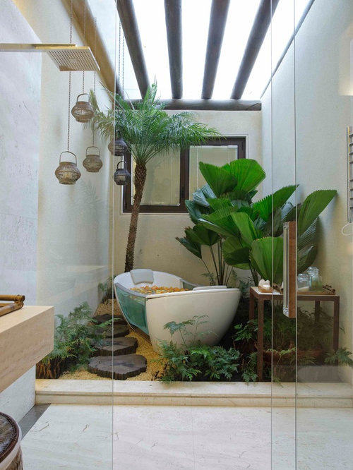 Bathroom garden home design ideas pictures remodel and decor for How to decorate a garden tub bathroom