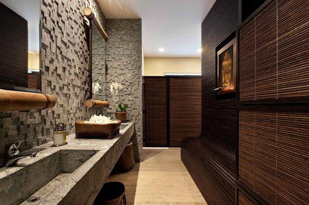 asiatique salle de bain by eduarda correa arquitetura interiores