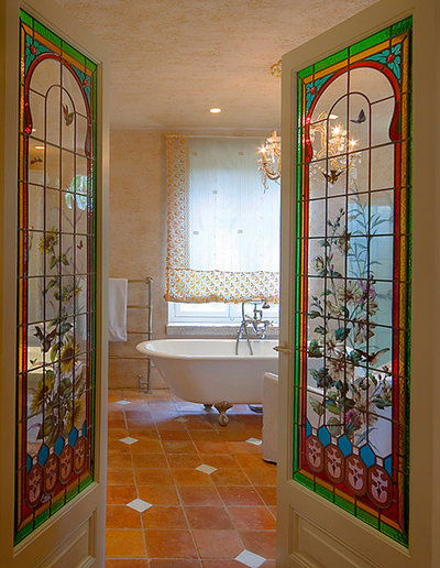 British Colonial Bathroom by Elad Gonen