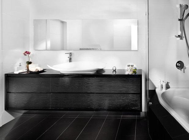 8 id es d co pour une magnifique salle de bains en noir et blanc. Black Bedroom Furniture Sets. Home Design Ideas