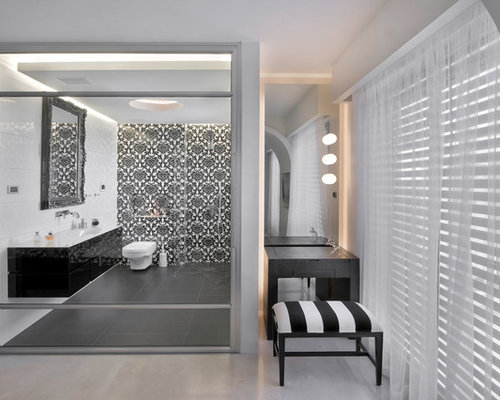 Black And Grey Bathroom Home Design Ideas, Pictures, Remodel And Decor