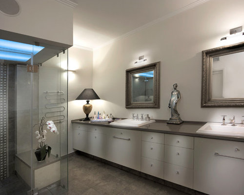 Monochromatic color scheme houzz for Monochromatic bathroom designs