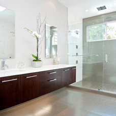 Contemporary Bathroom by Cabinets and Beyond Design Studio