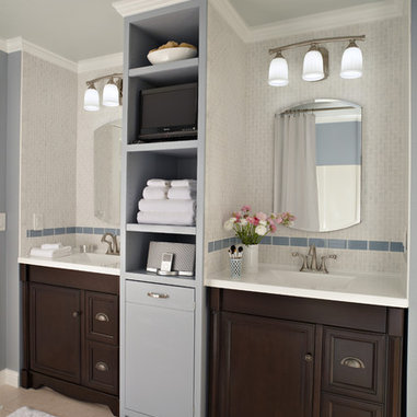 ... cabinets, overhead and task lighting, and a built-in storage tower add