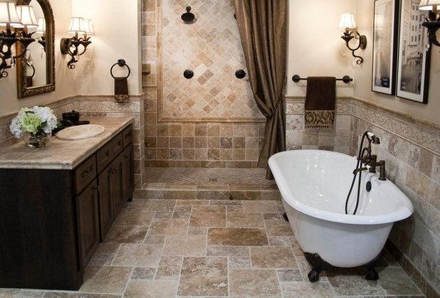 Mediterranean Bathroom by Forney Home Pros, LLC